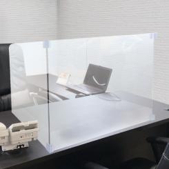 透明のアクリルを使ったパネルで、カウンターなど幅広く使用できます。